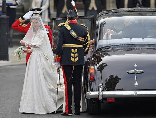 Kate Middleton exited the Rolls Royce.