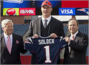 Nate Solder is introduced at Gillette