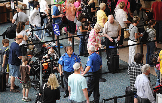 Security was ramped up at airports around the country, such as Orlando International Airport.