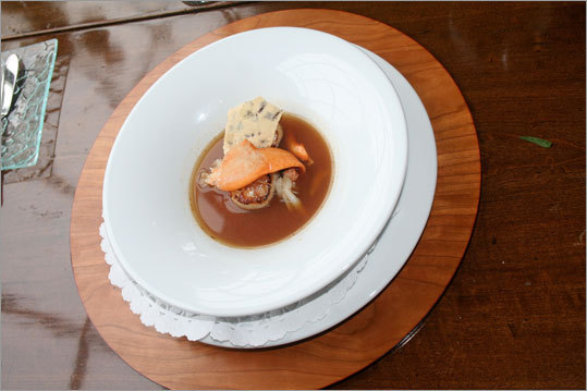 Lobster and Scallop Soup at Kingsbrae Arms. Read: Kingsbrae Arms a sumptuous destination all its own