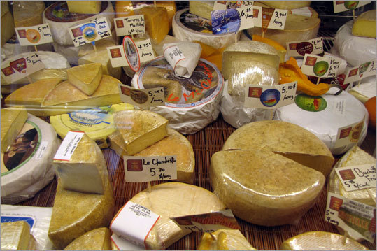 An impressive array of soft, semi-soft and hard cheeses fill a case that runs the length of L'Artisan Et Son Pays. Read: For every taste: history and food, shops and stroll