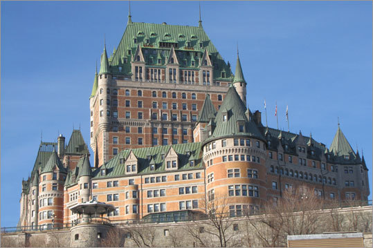 The past is present everywhere in Quebec City: in the restored architecture, the cobblestone paths, the names of streets, the fortified walls, the public squares and parks, and culinary traditions. At left, Fairmont Le Chateau Frontenac, the late 19th-century hotel sits on a bluff overlooking the St. Lawrence River. Read: For every taste: history and food, shops and stroll