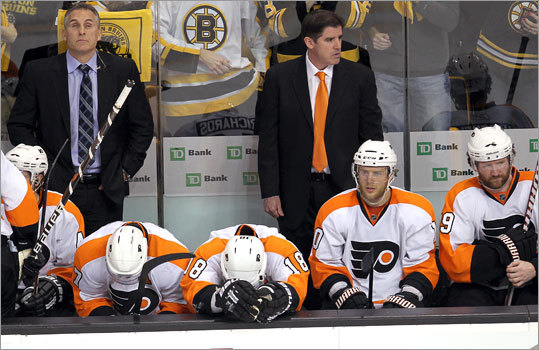 Coach Peter Laviolette and the Flyers played in the Stanley Cup Finals last season, but were unable to repeat the appearance.