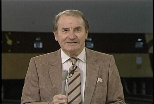 Don Gillis of WCVB-TV hosted the local television show 'Candlepin Bowling' at Fairway Bowling which featured the distinctive New England bowling style with smaller balls and thinner pins than traditional tenpin bowling.