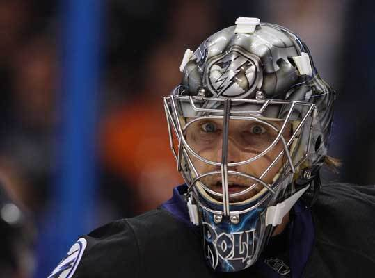 Goaltending Veteran goalie Dwayne Roloson entered the league in 1996 as a 27-year-old with Calgary. He was traded to the Lightning by the New York Islanders for Ty Wishart in January, making Tampa Bay Roloson's sixth stop in the NHL. The 41-year-old's best season came in 2004, when he led the league in save percentage (.933) and made his lone All Star appearance while with the Minnesota Wild. Roloson is 20th in career save percentage (.910) and seventh on the active list in games played. Roloson posted a .912 save percentage and a 2.56 goals-against average in 34 games this season for the Lightning, but he has not faced the Bruins. In the playoffs, he improved his save percentage to .941 and lowered his GAA to 2.01. He leads playoff goalies in both categories, with Boston's Tim Thomas second in both.