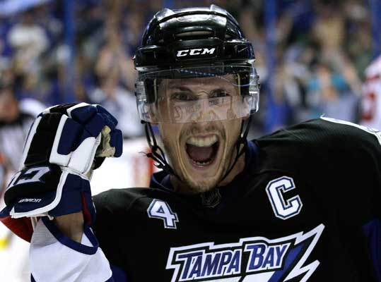 Offense, Part 2 Center Vincent Lecavalier is the Lightning's team captain and a four-time All Star who led the NHL in goals in 2007 with 52. In 2011, he scored 25 goals and had 29 assists for 54 points, his lowest out since 2001. The 31-year-old only played in 65 games due to an injury suffered in November. However, in the playoffs, Lecavalier is among the leading scorers with 12 points in 11 games, just three behind leader Ryan Kesler of Vancouver.