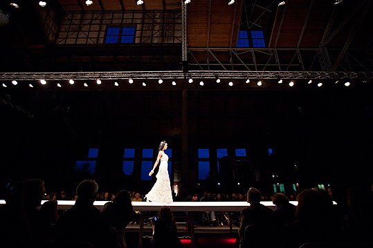 Here comes the bride? A model walked the runway in Natasha Javeri's Indian bridal-inspired collection entitled 'Ishq.'
