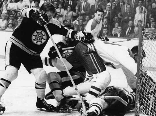 1969: Bruins lose to the Canadiens Coach Harry Sinden led the Bruins to a second place finish in the East, but they fell in the conference finals to the Montreal Canadiens in six games. A 20-year-old Bobby Orr had 64 points in 67 games during the regular season.