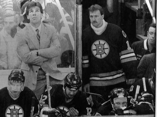 1988: Bruins beat the Devils in 7 In 1988, the Terry O'Reilly coached Bruins, who went 44-30-6, rolled through the Sabres and Canadiens in the first two rounds of the playoffs before facing the New Jersey Devils. The Bruins wins were lopsided, with the series featuring scores of 5-3, 6-1, 7-1 and 6-2. But the Devils won the close ones, winning Games 2, 4 and 6, setting up Game 7. The Bruins dominated in the final game, winning 6-2. The Bruins went on to lose in the Stanley Cup Finals in five games.
