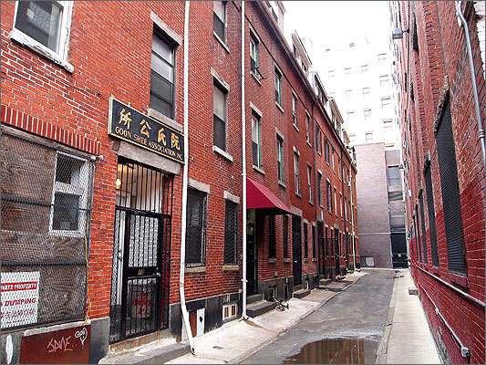 Oxford Place was the first permanent settlement of Chinese immigrants in Boston. 'Today, when you look down there, it's going to look like an alley that's really unkempt -- and it is,' Cheung said. 'But believe it or not, in the 1950s and 1960s … this was considered one of the best places to live because it was tucked away, because there was no traffic and kids could freely play in the streets.'