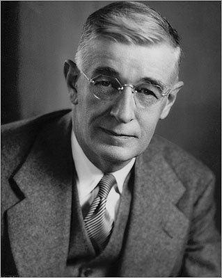 "Number 16: Before Google Perhaps Google owes a debt to MIT professor and administrator Vannevar Bush . Bush, who also served as a science adviser to President Franklin D. Roosevelt, conceived of a database-like device that would store all of an individual's books and correspondence and let that person search it instantly. The memex, wrote Bush, would be an ""intimate supplement to his memory."" (Just like searching your Gmail account for that to-do list your spouse sent you last month)."