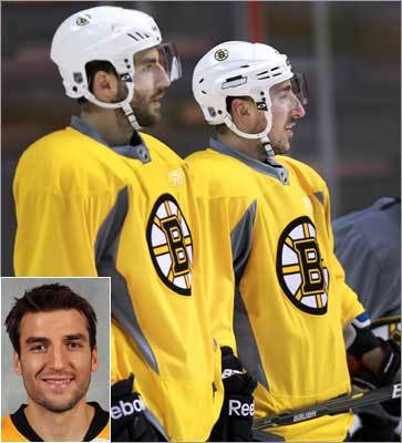 Patrice Bergeron, Boston Bruins Bergeron (left) suffered a mild concussion against the Flyers in the semifinals and his status remains uncertain. He has been dominant throughout the postseason, with two goals and 10 assists in 11 games.