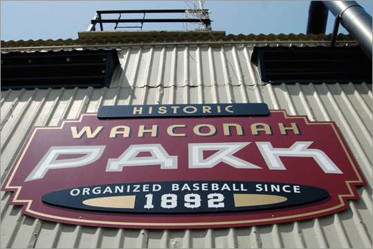 Pittsfield Colonials - Historic Wahconah Park is as delicious a slice of Americana as a piece of apple pie. The 3,500-seat home of the Can-Am League Colonials is a true throwback. The wooden grandstand, which dates to 1919, offers intimate sightlines; the outfield fence is made from wooden planks; and die-cut tin signs hang from the manual scoreboard. Even the Pittsfield uniforms, modeled on late 1800s fashion, are retro. ''Sun delays'' are more common than rain delays at the park, one of only two professional stadiums facing west. The setting sun can cause a dangerous glare for batters, and games may pause for as long as 20 minutes before play can safely resume. Season starts May 26. $5-$9, 413-236-2961