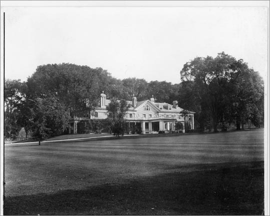 Once, the commissioner wanted to have the Estate become the governor's mansion while John Volpe was in office. He took the keys only to return them after his wife decided the house would need an extensive renovation that legislature did not pass. Left: The Endicott Estate circa 1930.