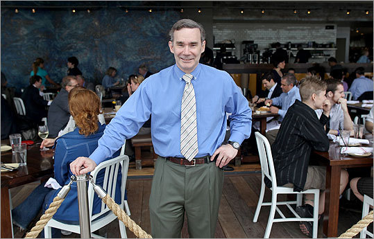Roger Berkowitz is the president and CEO at the new Boston-Legal Harborside Restaurant. Legal Harborside is the 20,000 square foot flagship on the Boston waterfront.