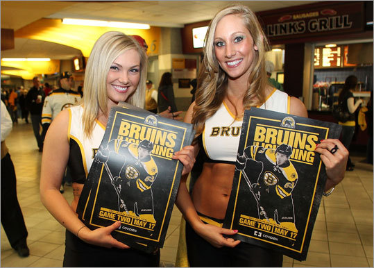 Game 2 of the Bruins-Lightning series was the main attraction at TD Garden, but the Bruins' Ice Girls were also worth checking out. They were giving away commemorative posters.