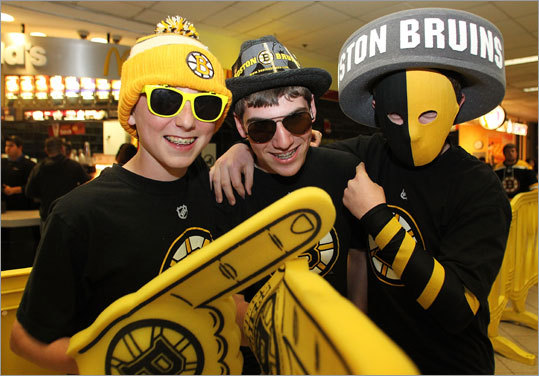 Young Bruins fans displayed their team spirit.