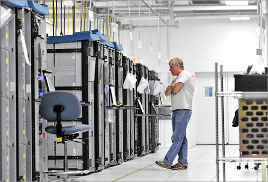 Data storage equipment Who makes it: EMC Corp. Location: Hopkinton EMC Corp. is known for providing data storage for giant companies, although it recently rolled out a new system back in January that costs less than $10,000, catering to small businesses. The company also develops technology for cloud computing and provides consultation services for clients.