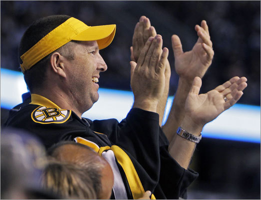 The Bruins had at least one supporter at the St. Pete Times Forum in Tampa.