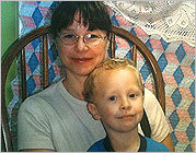 Julianne McCrery and her son are seen in a family photo from May 2009