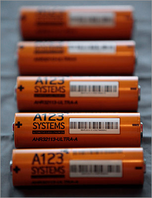 A123 Systems lithium ion batteries