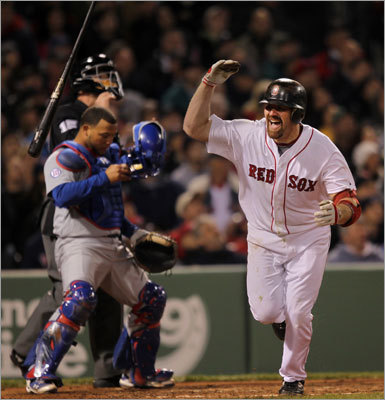 Red Sox third baseman Kevin Youkilis flipped his bat in disgust after flying out to end the fifth inning.