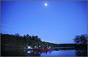 Charles River by moonlight offers a magical ride for suburban canoeists