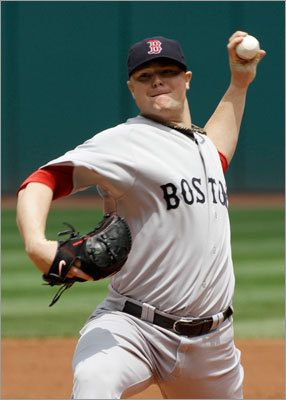 Jon Lester pitched six shutout innings for the Red Sox, striking out seven and leaving the game with a 14-run cushion.