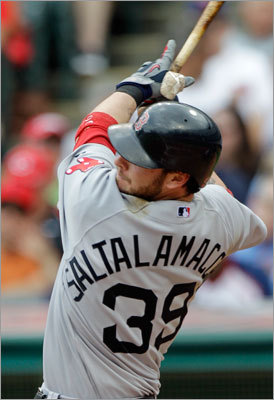 Red Sox catcher Jarrod Saltalamacchia hit a three-run home run in the sixth inning.