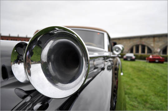 The horns on this 1949 Cadillac Model 62 convertible are literally trumpets.