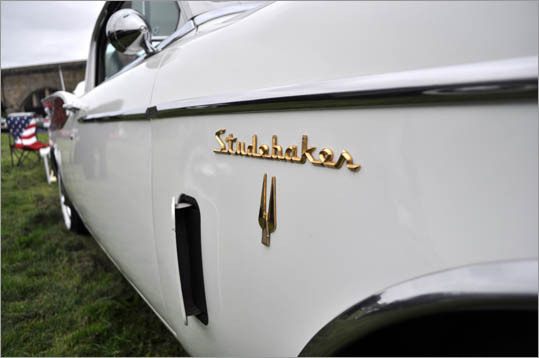 Opening side flaps mark this 1957 Studebaker Golden Hawk.