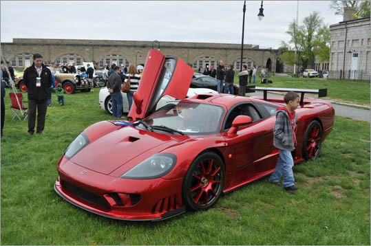 This boy is just the right height for a Saleen S7.