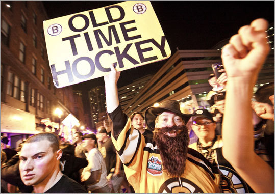 David Heard expressed his preference on a sign outside the TD Garden.