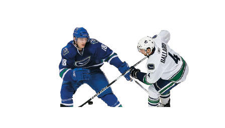 Canucks third defense Keith Ballard and Christopher Tanev have been steady as injury replacements for Christian Ehrhoff and Aaron Rome, who were both injured by San Jose's Jamie McGinn. Tanev arrived two weeks ago fresh from the AHL playoffs.