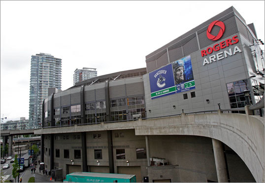 Rogers Arena in Vancouver will be the site of Games 1 and 2 (at least) of the Stanley Cup finals between the Bruins and Canucks.