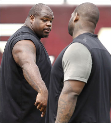 Nose tackle Vince Wilfork doled out advice to his teammates.