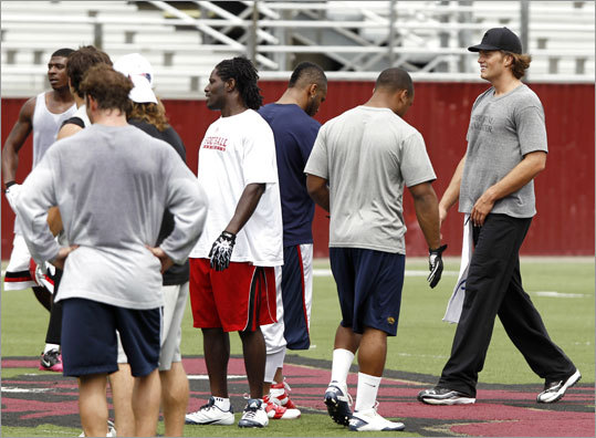 The rookies who joined Tom Brady at the workout included Nate Solder, Ras-I Dowling, Shane Vereen and Ryan Mallett.