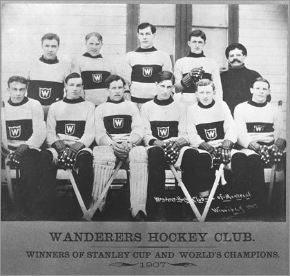 Cup as a planter Let's go way back for a couple of these stories from the Hockey Hall of Fame. In 1907, the Montreal Wanderers took a picture with the cup but left the trophy at the home of a photographer. The photographer's mother used it as a flower pot, and planted geraniums in it. The team eventually retrieved the cup from the photographer's home.