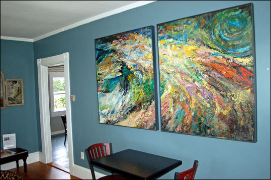 Cape Cod Chat House The former Dennis farmhouse has been renovated in an eco-friendly manner, and the coffee, snacks, and desserts — many of them organic — are from local producers. The Warrens have chosen pieces by artists Richard Neal and Jackie Reeves, both of Chalkboard Studio in Barnstable Village, to set the debut mood. There is plenty of room to sit and kibitz (with free Wi-Fi), and an outdoorpatio. 593 Route 6A, 508-694-7187, www.capecodchathouse.com .