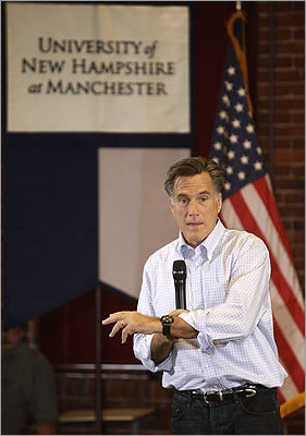 Republican presidential hopeful Mitt Romney spoke during a town hall style campaign event at the University of New Hampshire in Manchester, N.H., on June 3. This is the former Massachusetts governor's second run for president, following his bid in 2008 when he lost out to Senator John McCain of Arizona.