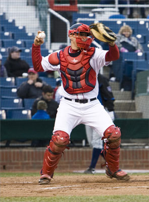 12. Ryan Lavarnway, C Team: Portland (Double A) Scouting report: Ryan Lavarnway was drafted in the sixth round of the 2008 draft by the Red Sox and last year worked his way up to Portland, where he's continued to hit, leading the Sea Dogs in homers (12) and RBIs (32). The 6-foot-4, 225 pound 23-year-old is a Yale product and a model of consistency with a bat who led the NCAA in batting average as a sophomore. Lavarnway has thrown out 44 percent of would-be base stealers (14 of 32), a career-best.