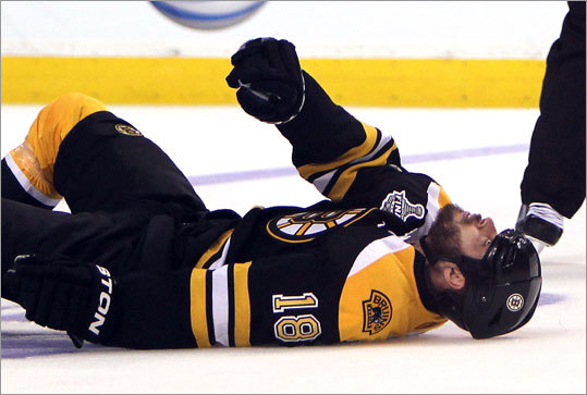 Nathan Horton was taken to Mass General Hospital and was reported to be able to move his extremities