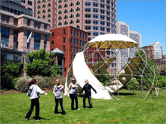 Members of Contrapose Dance performed alongside the Automatic Subconscious Dome.
