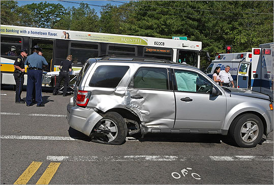 Mbta Bus And Suv Crash In Milton Boston Com