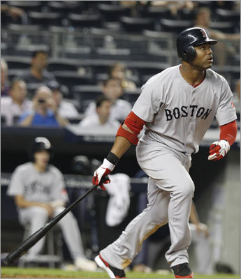 June 8: Red Sox 11, Yankees 6 Carl Crawford added an insurance home run in the ninth inning off Yankees reliever Lance Pendleton. It was Crawford's sixth home run of the season.