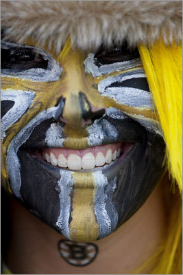 From the face paint to the smile, it was pretty evident what kind of mood Allison Wright of Northbridge was in for Game 4.