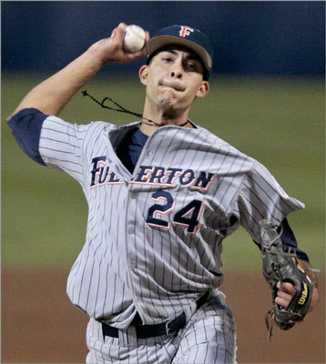 Noe Ramirez Picked: Fourth round, No. 142 He's from: Cal State Fullerton Position: Outfield About him: A three-time All-American at Cal State Fullerton, he went 8-4 with a 1.69 ERA and 103 strikeouts to 20 walks in 90 2/3 innings. 'My pitch is definitely the changeup,' Ramirez told MLB.com's Jason Mastrodonato. 'That's something that I feel my successes came from. I feel comfortable throwing all the pitches I have -- fastball and slider. But the changeup has definitely been my pitch.'