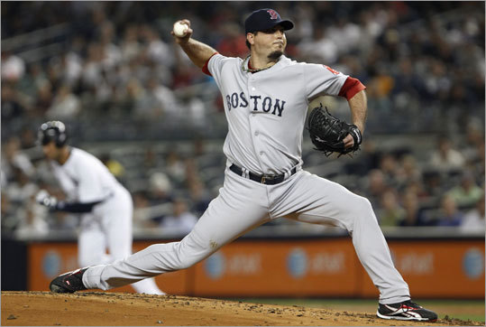 June 9: Red Sox 8, Yankees 3 Red Sox starting pitcher Josh Beckett beat CC Sabathia and the Yankees for the third time this season, tossing seven innings, allowing two earned runs and striking out six.