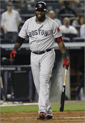David Ortiz flipped his bat after a home run in the first game of the series, but there was no retaliation from the Yankees. But in the series finale, after Josh Beckett hit both Derek Jeter and Alex Rodriguez in the first three innings, CC Sabathia hit Ortiz with a first-pitch fastball on the leg in the fourth. Warnings were issued to both benches and there was no further escalation. The Red Sox had the last laugh, however, and they stormed back with a seven-run seventh inning en route to an 8-3 victory and sweep of the Yankees.