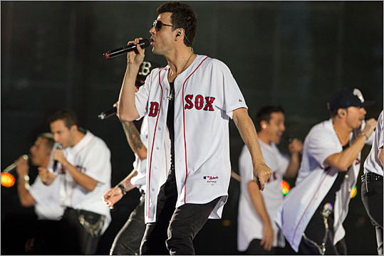 Jordan Knight and other members of NKOTBSB sang.